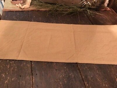 """Primitive Table Runner Tan Cream Color 15"""" x 56'' Woven Early Look Homestead"""