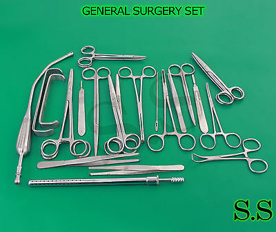 General Surgery Set Of 63 Surgical Instruments Ds-993