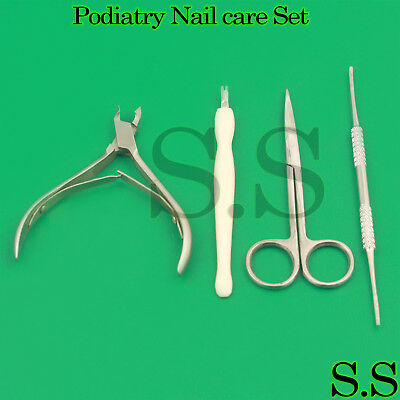 Podiatry Nail Care Kit Toenails Iris Tissue Scissors Ingrown Nipper Nail File