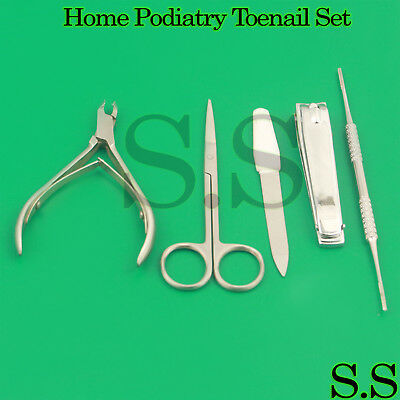Home Podiatry Ingrown Toenail Removal Manicure Pedicure Instruments Kit New