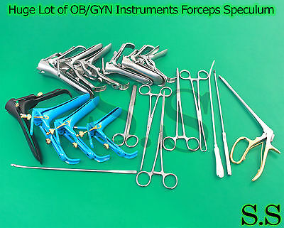 Huge Lot Of OB/GYN Instruments Forceps Speculum Surgical Medical Gynecology NEW
