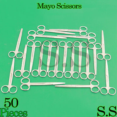 50 MAYO DISSECTING SCISSORS Straight 7'' SURGICAL INSTRUMENTS