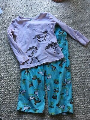 3T Girl Horse Pajamas-2 Piece Set