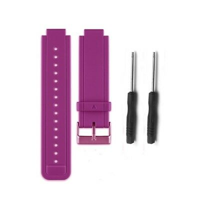 (Purple) - HWHMH Replacement Silicone Bands With Pin Removal Tools for Garmin