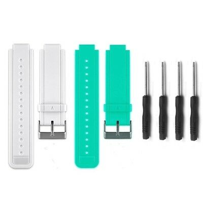 (02-White&Teal) - HWHMH Replacement Silicone Bands With Pin Removal Tools for