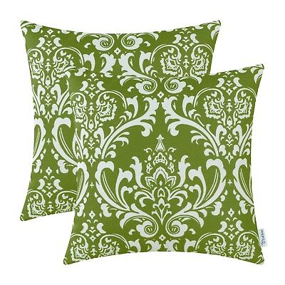 (Pack of 2, Olive Green) - Pack of 2 CaliTime Cushion Covers Throw Pillow