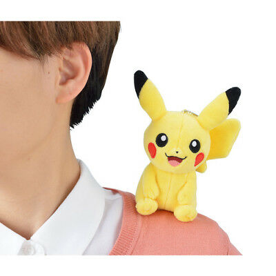 Pokemon Center Original Magnetic Shoulder Riding Mascot Plush Pikachu ver.2
