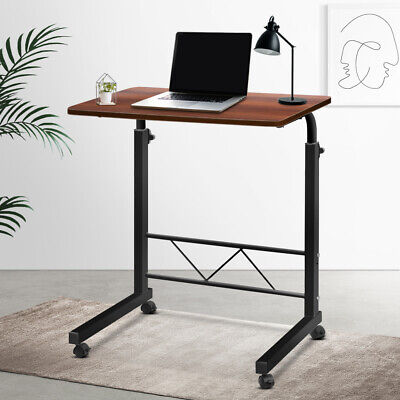 Portable Mobile Twin Laptop Desk Rolling Stand Lightweight Adjustable Height