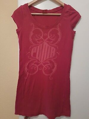 Puma T Shirt 36 S  in Rot mit muster