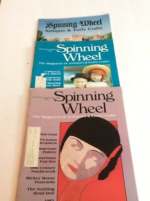 Spinning Wheel Magazine Antiques And Early Crafts.  Lot Of 3. 1982