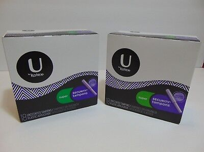 U by Kotex  Super Security Tampons  18 Unscented (36 total) 2 packs