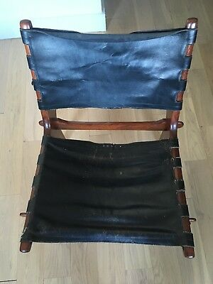 Handsome Used Chair, Modernist Wood & Leather Design, Possibly Swedish 1950s