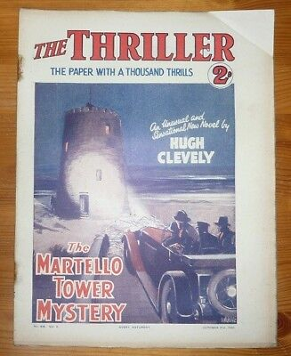 THE THRILLER No 246 Vol 9 21ST OCT 1933 THE MARTELLO TOWER MYSTERY- HUGH CLEVELY