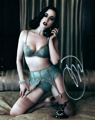 Dita Von Teese Autographed 8x10 Photo Signed Picture Pic Nice + COA
