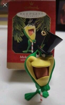 Hallmark Keepsake 1997 MICHIGAN J. Frog Looney Tunes Christmas Ornament