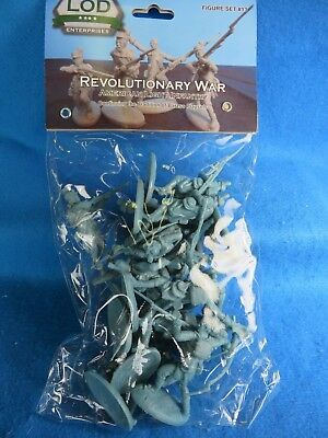 Rev War American Light Infantry Toy Soldiers, 16 in 8 poses, Made by LOD/ Barzso