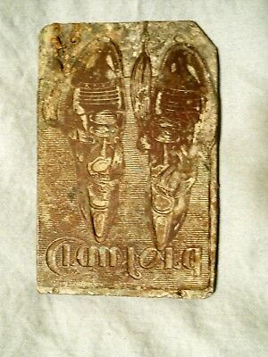 Vintage Printing Press Plate - Crawford Shoes  1903 - 1920's