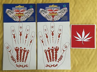Pair of Jnoun Hand Henna Tattoo there are Safe, Non Toxic and are CE Mark