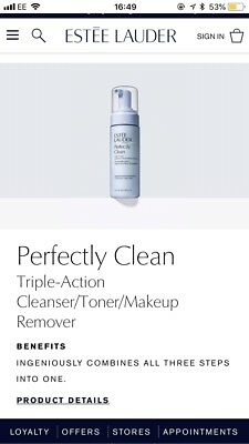 Estee Lauder: Perfectly Clean 150ml:Triple Action Cleanser,Toner,Makeup Remover