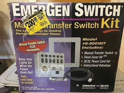 Emergency Switch Manual Switch Kit 6-5001 Kit New Old Stock