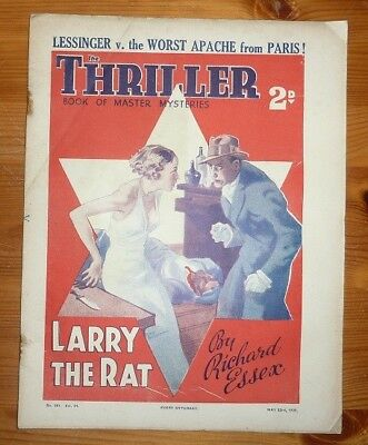 THE THRILLER No 381 Vol 14 from the 23rd of May 1936 LARRY THE RAT RICHARD ESSEX