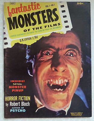 Fantastic Monsters of the Films Vol 1 No 1 UK Edition by Black Shield 1962
