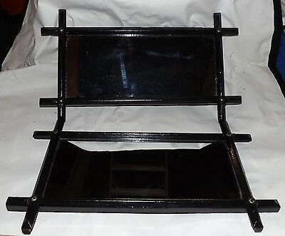 """Pair of Antique Cottage Frame Mirrors. 16"""" X 8"""" Overall. Black. In Nice Shape"""