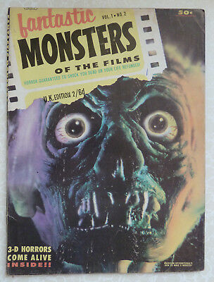Fantastic Monsters of the Films Vol 1 No 2 UK Edition by Black Shield 1962