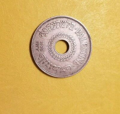 PALESTINE 20 Mils 1933 .Low mintage of 250 K only. Great condition.