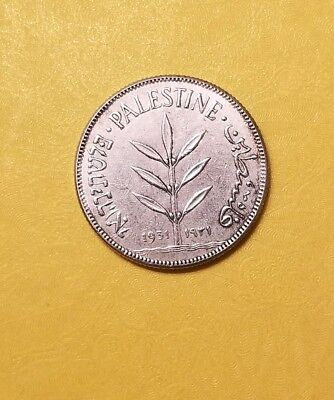 PALESTINE 100 Mils 1933. Silver coin .Low mintage of 500  K only.