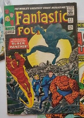 Fantastic Four # 52 First Appearance of Black Panther