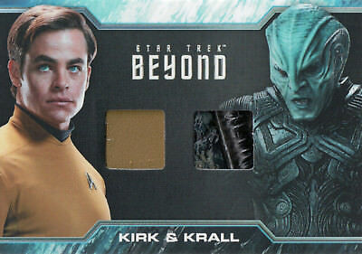 Star Trek Beyond Movie 2017, Chris Pine'Kirk' / Idris Elba'Krall' Relic Card DC4