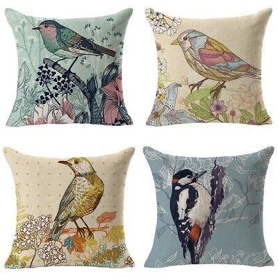 (C) - WOMHOPE 4 Pcs - 46cm Bird On the Tree Accent Countryside Hand Painted