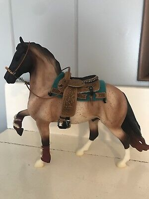 **BREYER WESTERN SHOW SADDLE, PAD, BOOTS, And HACKAMORE-EUC-HORSE NOT INCLUDED!