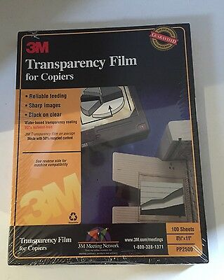 3M  PP2500 Transparency Film For Copiers NEW Factory Sealed