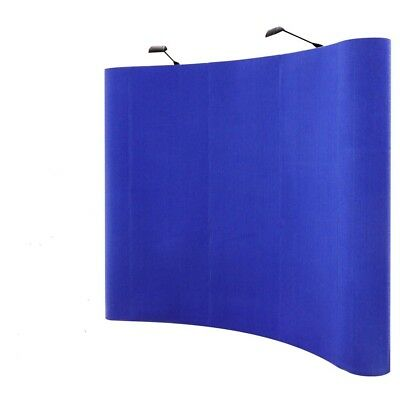 8ft Portable Blue Display Trade Show Booth Exhibit Pop Up Kit W/Spotlights