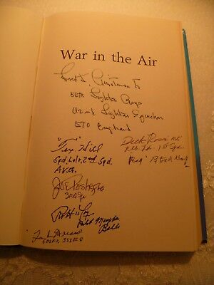 """War in the Air signed """"Tex"""" Hill, Fred Christensen, Dick Rossi & 3 other Pilots"""