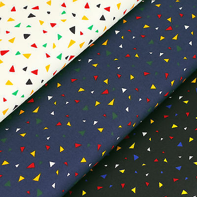 Cotton Fabric FQ Triangle Confetti Geometric Bunting Patchwork Sew Quilting VS19