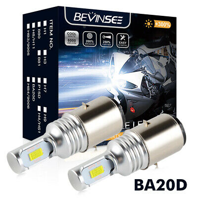 Bevinsee BA20D H6 LED Motorcycle Headlight Bulbs For KTM 125 200 300 350 EXC