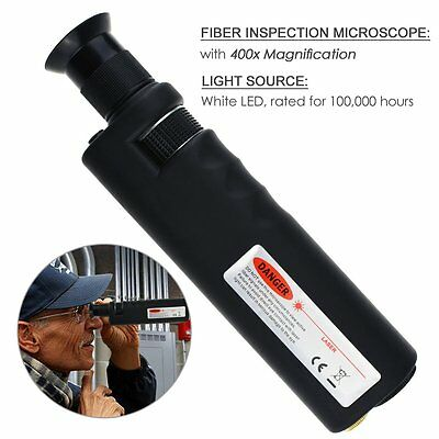 400x Fiber Optical Microscope Inspection White LED Illumination CE Approved