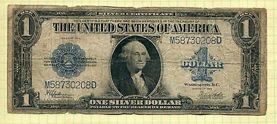 Large 1923 $1 Dollar Big Silver Certificate Note Big Paper Currency Money