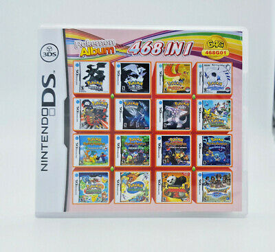 468 in 1 (Pokemon Mystery Dungeon, Link, White,Black & more) DS 3DS Compliation