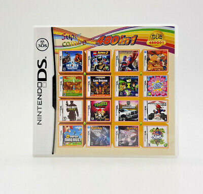 480 in 1 New Multi Game Compliation DS 3DS English Video Games Play Now !