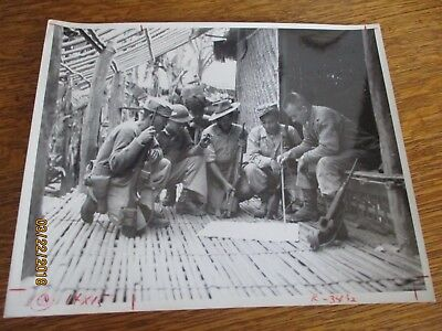WWII Kachin Patrol Southeast Asia Commander 1944 Burma Photo 8x10 USA Military