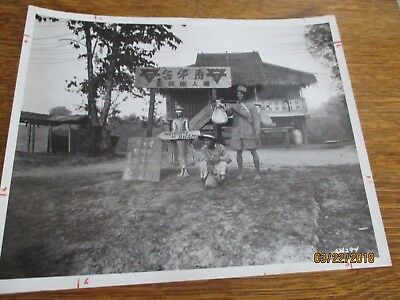 WWII 1945 Welcome of Bhamo Chinese Young Men's Christian Assoc Burma Photo 8x10