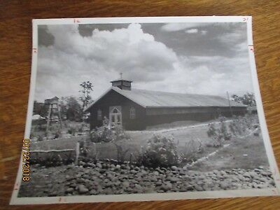 WWII Catholic Services of Supply Chapel Myitkyina Burma 8x10 Photo 1945 Far East