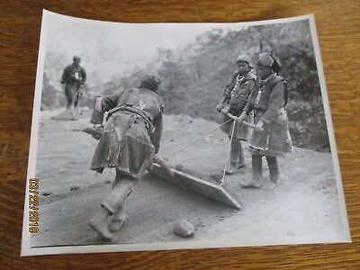 WWII Native Burmese Woman Lieu Tribe Build Road China Burma 8x10 Photo 1944  USA