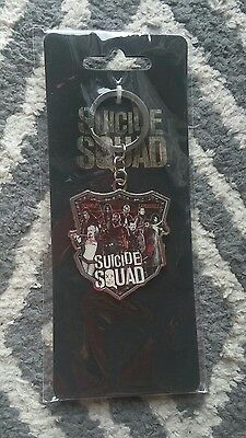 NEW Suicide Squad Movie Collectors Keychain with Joker Jared Leto Harley Quinn