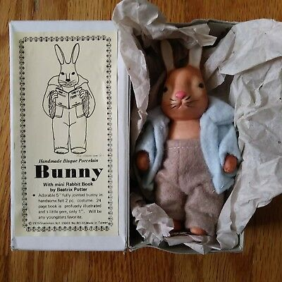 Handmade Bisque Porcelain Peter Rabbit Beatrix Potter Bunny 1979 Shackman...