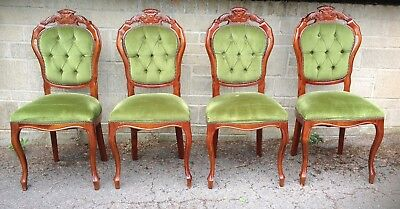 4 Vintage French Louis Style Dining Parlour Chairs ~ Shabby Chic Project
